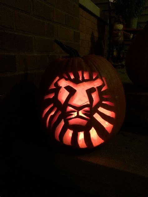 Lion King Pumpkin Carving Disney Pumpkin Carving
