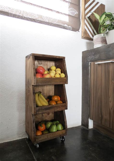 rolling cart  store  fruits  vegetables ohoh deco
