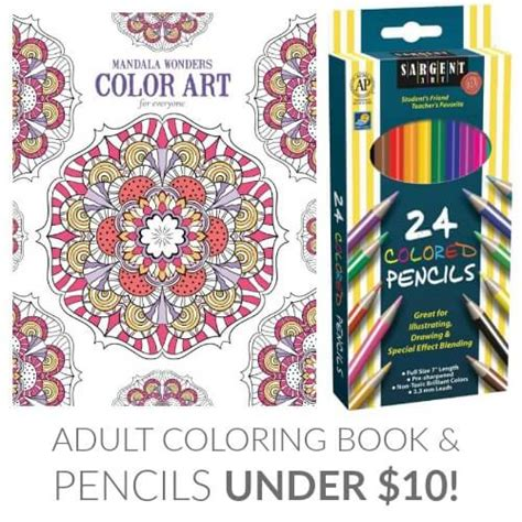 adult coloring book colored pencils under 10 passion