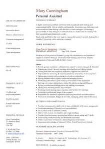 good resume for accounts executive job description personal assistant cv sle