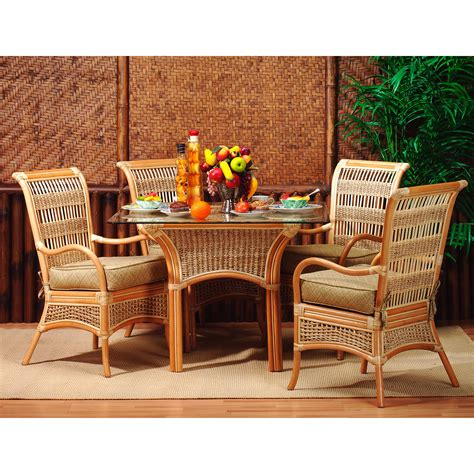 Sunroom Sofa Sets by Spice Islands Wicker Sunroom Dining Set Dining Table