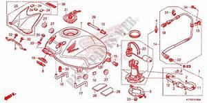 Fuel Tank For Honda Cbr 125 Repsol 2015   Honda Motorcycles  U0026 Atvs Genuine Spare Parts Catalog