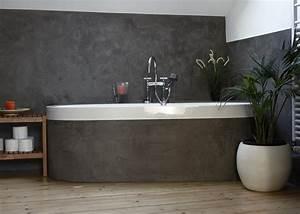 Moderne Wandgestaltung Bad : ein bad in kalkputz betonlook wohnung pinterest betonoptik badezimmer und oberfl che ~ Sanjose-hotels-ca.com Haus und Dekorationen