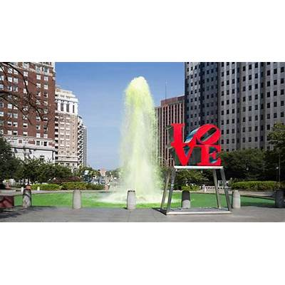 Philadelphia's LOVE Park iconic statue ready for