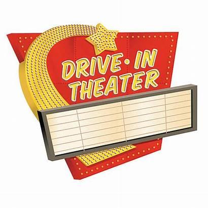 Drive Theatre Theater Clip Vector Clipart Sign
