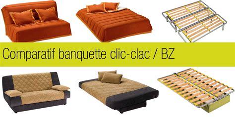canapé bz 2 places comparatif banquette clic clac et bz