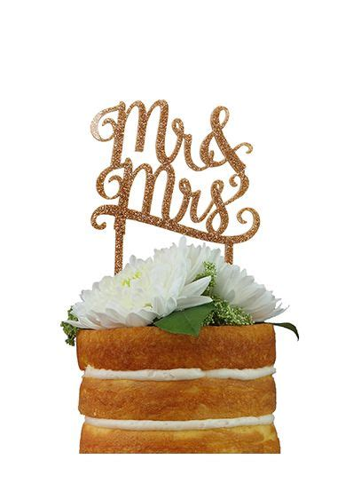 Db Exclusive Mr And Mrs Gold Cake Topper Davids Bridal