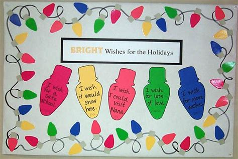 bright wishes for the holidays christmas lights bulletin