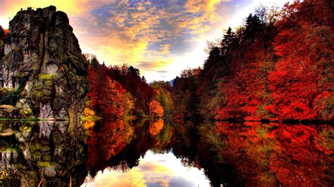 Colourful Autumn Background by Colorful Autumn By The Mountain Lake Wallpapers And Images