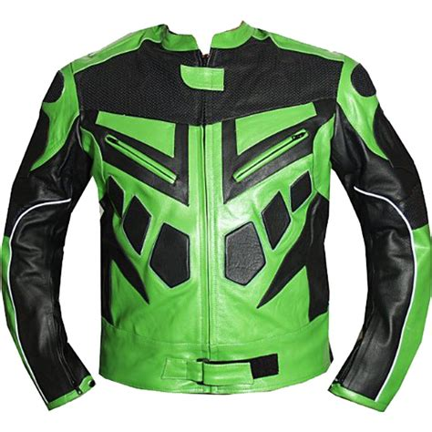 green motorcycle jacket armor motorcycle riding leather jacket in green leather