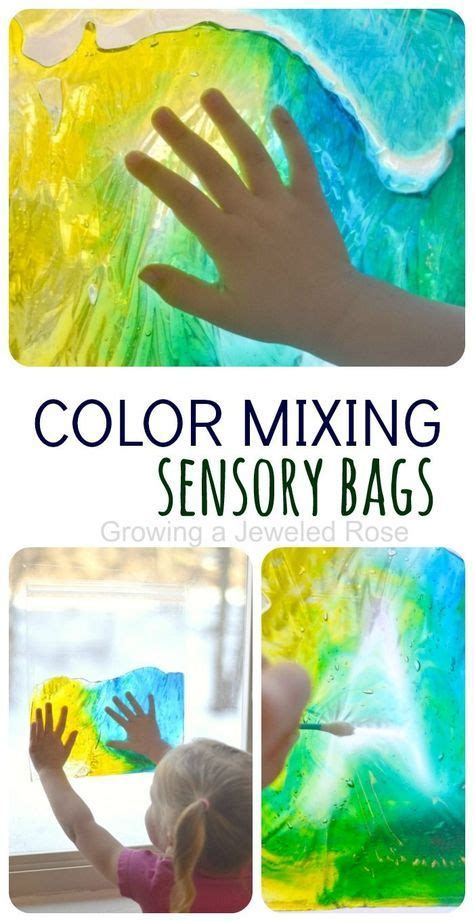 sun catcher sensory bags sensory bags color mixing