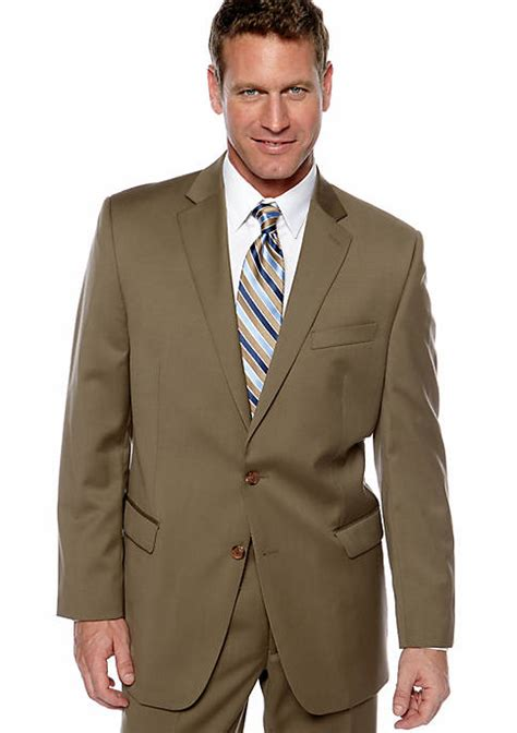 lauren ralph lauren ultraflex tan portly suit separate