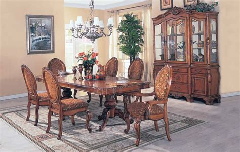 light colored dining room sets light brown color semi gloss finish formal dining set