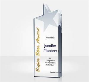 Marine Corps Military Police Personalized Rising Star Award For Employees Diy Awards