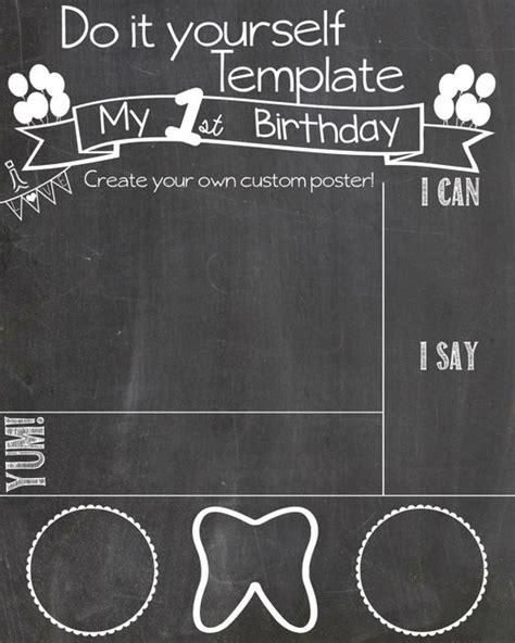 birthday chalkboard template the world s catalog of ideas