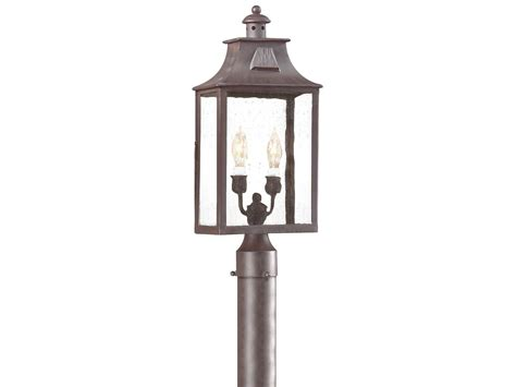 troy lighting newton bronze two light outdoor post
