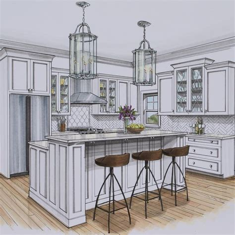 kitchen rendering rendering drawing interior interior