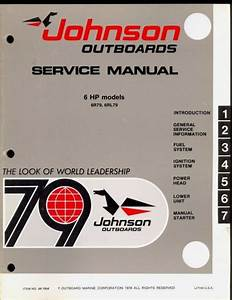 1979 Johnson Outboards 6 Hp Models Service Manual    Jm