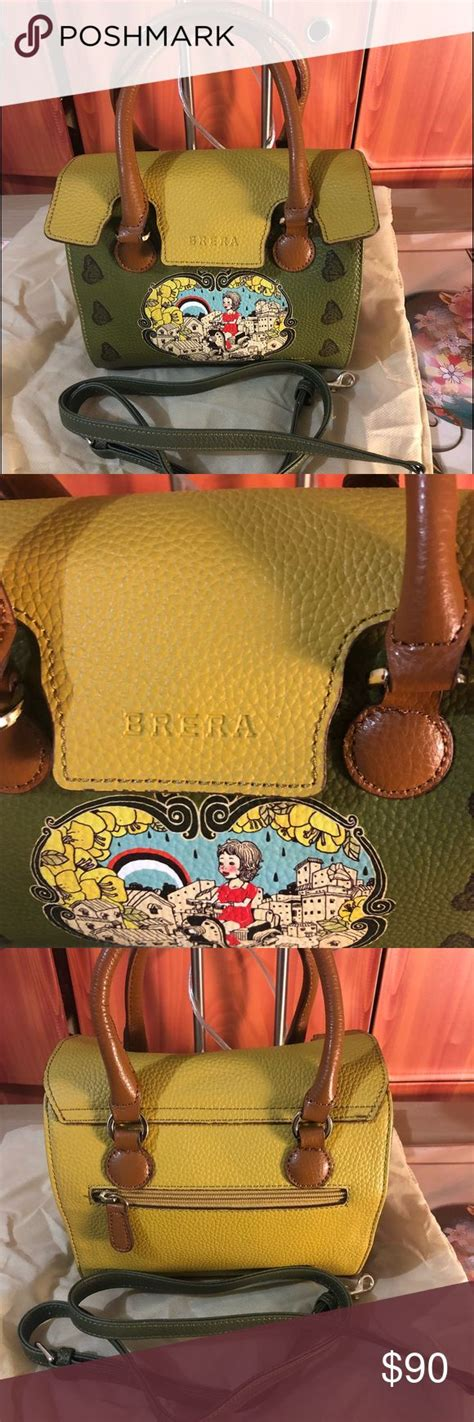 authentic brera art fever sling bag       gift   italy  flaws width