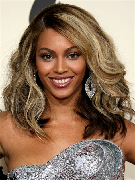pictures platinum blonde highlights beyonce brown hair