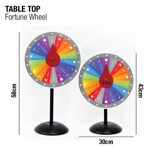portable folding table fortune wheel stand millioncolour display advertising