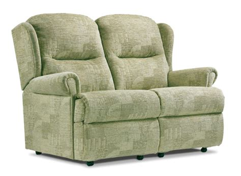 Small 2 Seater Settees by Malvern Small Fabric Fixed 2 Seater Settee Sherborne
