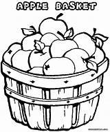 Apples Apple Coloring Pages Drawing Bucket Getdrawings sketch template