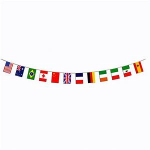 International World Flag Border Banner 12 Countries