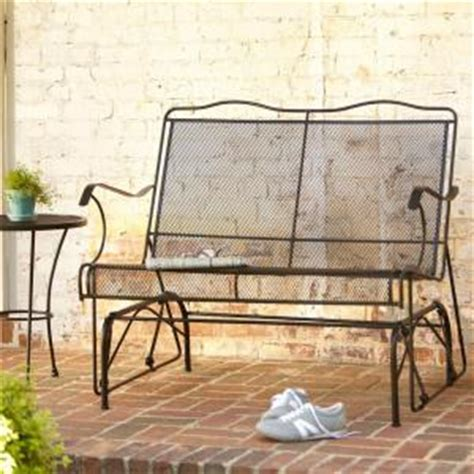 hton bay jackson patio loveseat glider 7894000 0105157