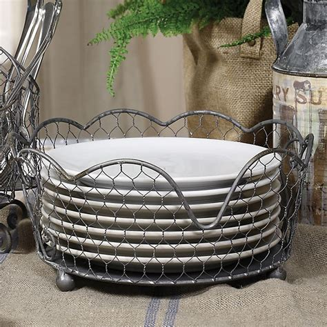 wire plate holder bed bath