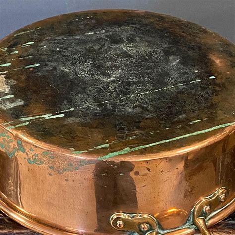 large georgian  handled copper pot antique brass copper hemswell antique centres