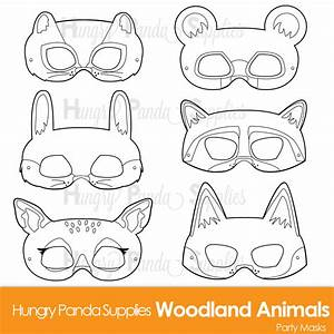 woodland forest animals coloring masks woodland animal mask With woodland animal mask templates