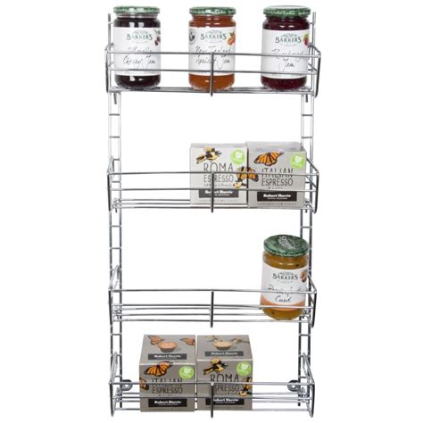 Adjustable Spice Rack by Spice Rack 4 Tier Adjustable Chrome From Storage Box