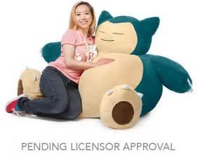 thinkgeek announces pokemon snorlax bean bag chair