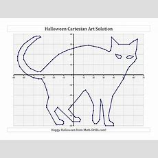 New For #halloween 2013! Cartesian Art Halloween Cat  New Math Worksheet Announcements
