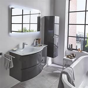 Meuble Salle De Bain Gris : charmant meuble salle de bains gris 104 cm vague castorama ~ Preciouscoupons.com Idées de Décoration