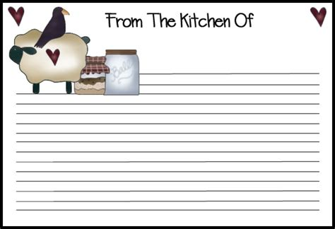 images  printable recipe cards