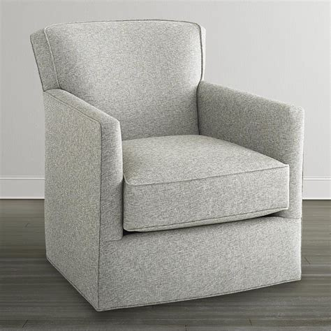 white swivel glider chair