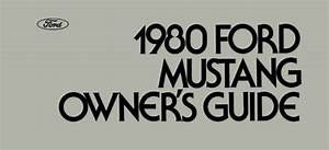 1980 Ford Mustang Owners Manual User Guide Reference
