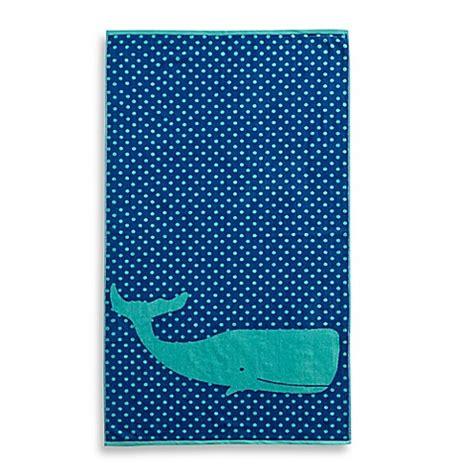 whale jacquard beach towel bed bath