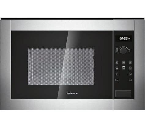 Buy NEFF H12WE60N0G Built in Solo Microwave   Stainless