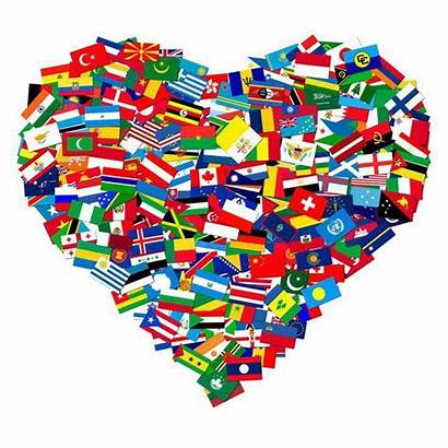 Heart Flags Shape Flag Every Around Country