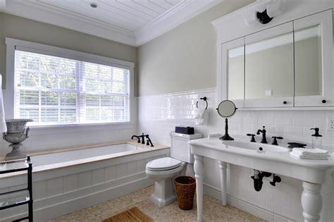 Wood Tub Surround Bathroom Traditional With Bead Board Tub