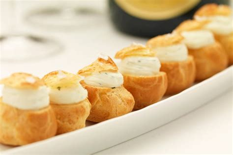 canape filling ideas choux buns recipe great chefs