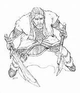 Coloring Hobbit Thorin Oakenshield Adult Sheets Printable Harpokrates Colouring Dwarf Lego Personnages Masculins Coloriage Deviantart 1264 Holding Sword Son Prince sketch template
