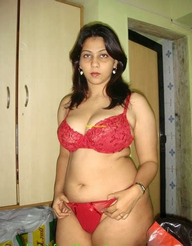 Hyderabad Big Boobs Red Bra Panty Aunty Naked Hot Babe