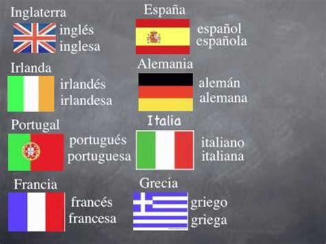 nacionalidades en espanol youtube