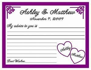 12 wedding or bridal shower advice cards personalized ebay With bridal shower advice cards template