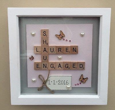 box frame scrabble word art family wedding anniversary