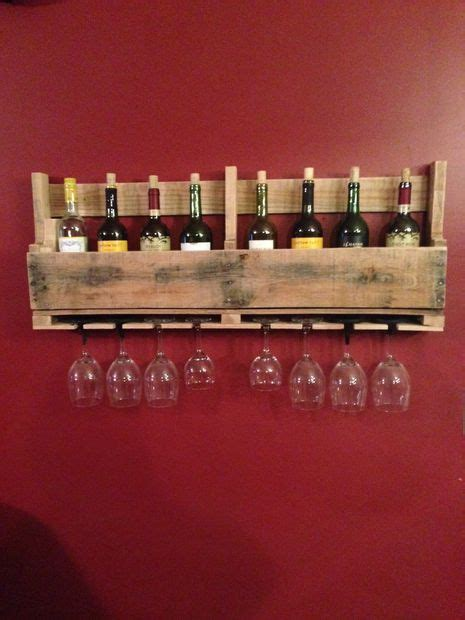 a diy wine rack made from pallets adds a touch to